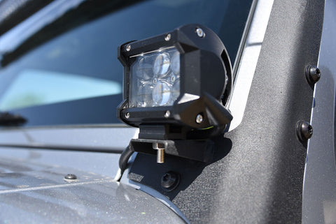 4 Inch Cube LED Light 18W Spot 3W LED Chrome DV8 Offroad - B4CE18W3W