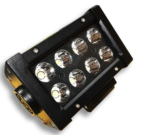 5 Inch Light Bar 24W Spot 3W LED Black DV8 Offroad - BR5E24W3W