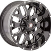 Jeep Ballistic Off-Road 853 Tank Gloss Black Milled 17x9 Wheels - 853790060-12GBX