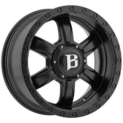 Ballistic Off-Road 962 Slayer Flat Black Wheels