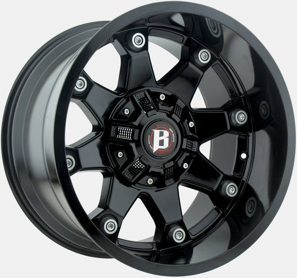"Jeep Wheel & Tire Package - Set of 5 20"" Ballistic 581 Beast and RBP 35"" Repulsor M/T RX"