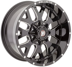 "Set of 5 20"" Ballistic 853 Tank Wheels and RBP 35"" Repulsor Tires"