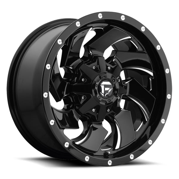 Jeep 17x9 Fuel Off-Road D574 Cleaver Gloss Black Milled Wheels - D57417902645