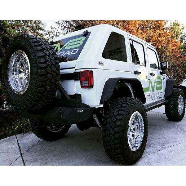 Jeep JK Hard Top Fast Back 07-18 Wrangler JK 4 Door Raw 2 Piece DV8 Offroad - HT07FB42-P