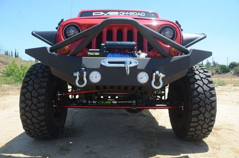 Jeep Wrangler JK / JL / Gladiator Steel Full Length Front Bumper with Skid Plate DV8 Offroad - FS-10
