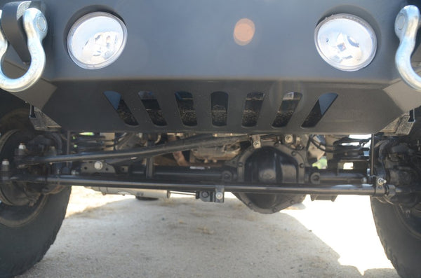 Jeep Wrangler JK/ JL / Gladiator Steel Mid Length Front Bumper with Fog Lights DV8 Offroad - FS-12
