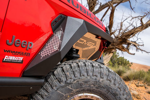 Jeep JL Armor Fenders with LED Turn Signal Lights 18-Present Wrangler JL DV8 Offroad - FDJL-01