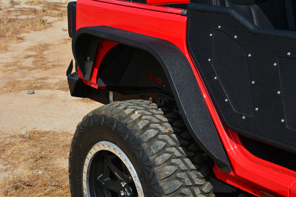 Jeep JK Slim Fenders Front and Rear 07-18 Wrangler JK DV8 Offroad - FENDB-06