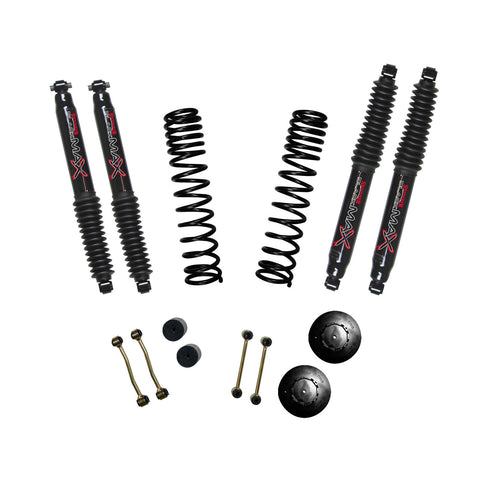 "2020-Up Jeep Gladiator 2.5"" Long Travel Lift Black MAX Shocks (Rubicon) Skyjacker - G250RPBLT"