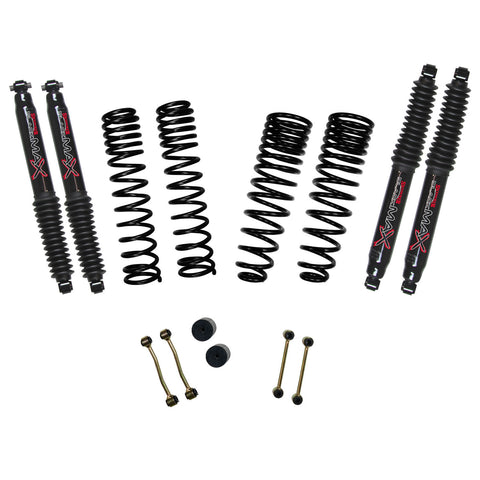 "2020-Up Jeep Gladiator 2.5"" Long Travel System Black MAX Shocks (Non-Rubicon) Skyjacker - G251PBLT"