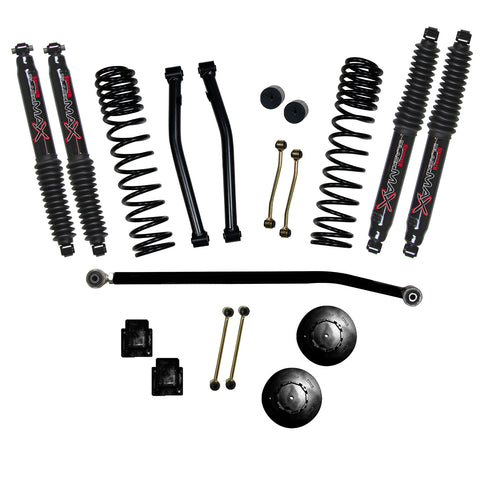 "2020-Up Jeep Gladiator 3.5"" Long Travel Lift Black MAX Shocks (Rubicon) Skyjacker - G350RPBLT"