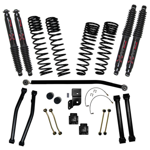 "2020-Up Jeep Gladiator 4.5"" Long Travel System Black MAX Shocks (Rubicon) Skyjacker - G452RKBLT"