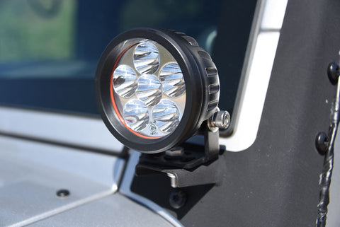 3.5 Inch Round 16W Driving Light Spot 3W LED Black DV8 Offroad - R3.5E16W3W