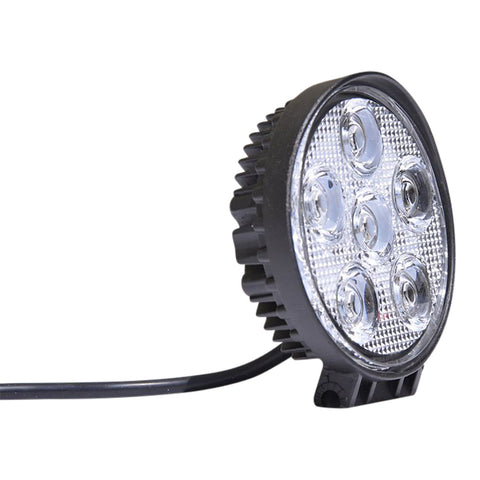 5 Inch Round Off Road Light 18W Spot 3W LED Black DV8 Offroad - R4.3E18W3W
