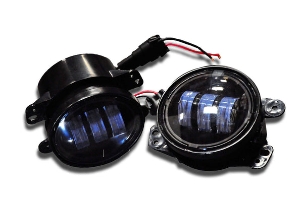 Jeep JK 4 Inch LED 30W Replacement Fog Lights 07-18 Wrangler JK DV8 Offroad - R4FL16W3W