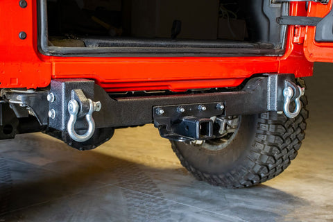 Jeep JL Rear Bumper Crossmember with Recovery Shackles 18-Present Wrangler JL DV8 Offroad - RBJL-04