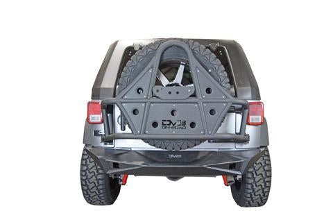 Jeep JK Rear Bumper 07-18 Wrangler JK with Lights Full Length DV8 Offroad - RBSTTB-14