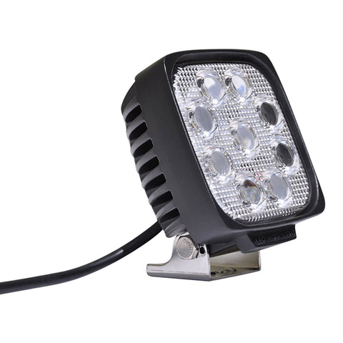5 Inch Square Off road Light 27W Spot 3W LED Black DV8 Offroad - S4.3E27W3W