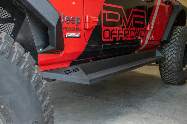 Jeep JL Plated Side Step/Slider 18-Present Wrangler JL 4-Door DV8 Offroad - SRJL-04