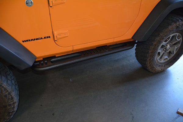Jeep JK Rock Slider Steps 07-18 Wrangler JK 2 Door DV8 Offroad - SRSOTB-02