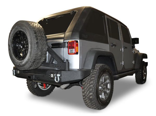 07-18 Jeep Wrangler Add On Tire Carrier For RS-10 / RS-11 Rear Bumpers DV8 Offroad - TCSTTB-06