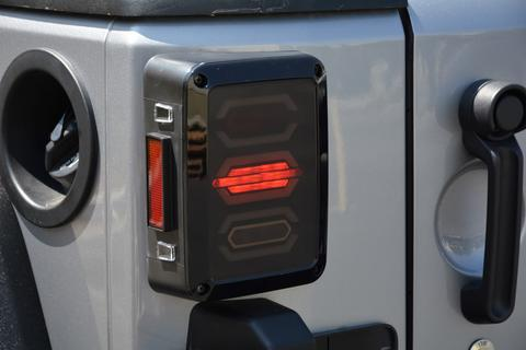 Jeep JK Octagon LED Tail Light 07-18 Wrangler JK DV8 Offroad - TLJK-02