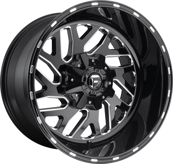 "Set of 5 20"" Fuel Off-Road Triton Wheels and RBP 35"" Repulsor M/T RX Tires"