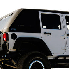 Jeep Hard Top Fast Back 07-18 Wrangler JK 4 Door Black with Wiper 2 Piece DV8 Offroad - HT07FB42-W