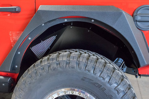Jeep JL Inner Fenders (Rear Black) 18-Present Wrangler JL DV8 Offroad - INFEND-03RB