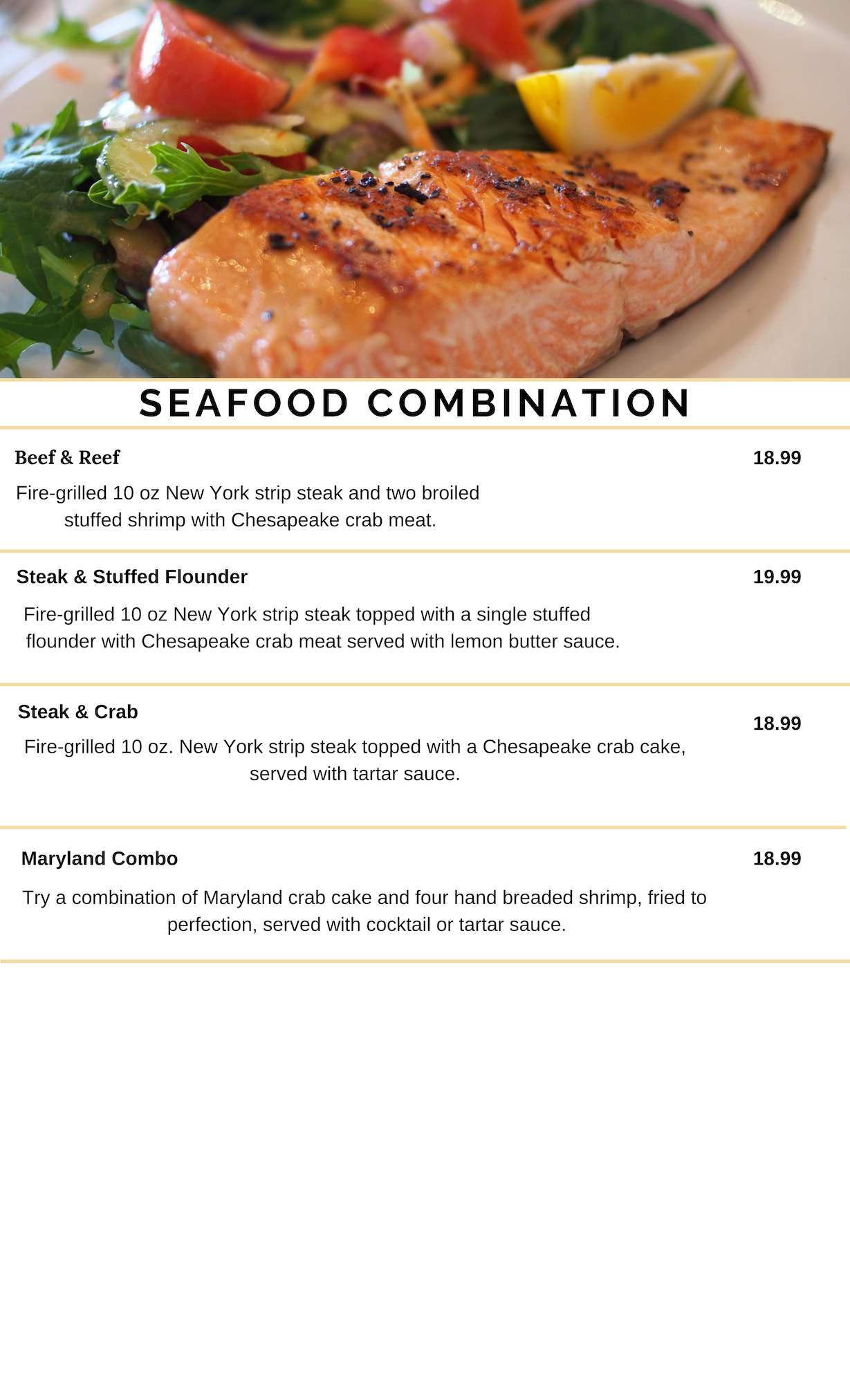 SEAFOOD COMBINATION