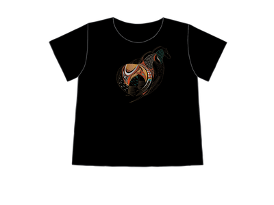 Black Horse | Sabaku Artwear | Unique Silk Screened Apparel Inspired by the Southwest