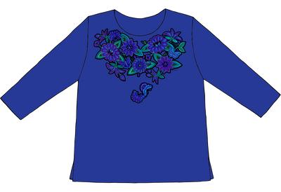 Blue Butterflies | Sabaku Artwear | Unique Silk Screened Apparel Inspired by the Southwest