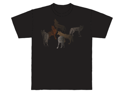 Conversation of Coyotes | Sabaku Artwear | Unique Silk Screened Apparel Inspired by the Southwest