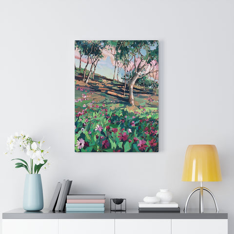 "limited edition canvas prints of ""Peace Love & Flowers"""