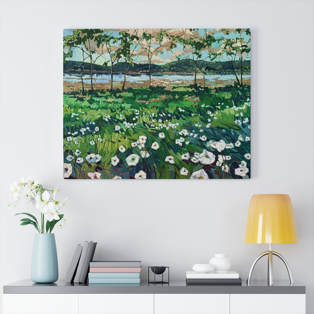 "Limited edition canvas prints of ""Lagoon in Bloom"""