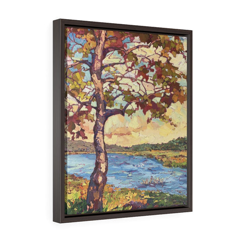 "Framed Limited edition canvas reproduction of ""Fall in the light"""