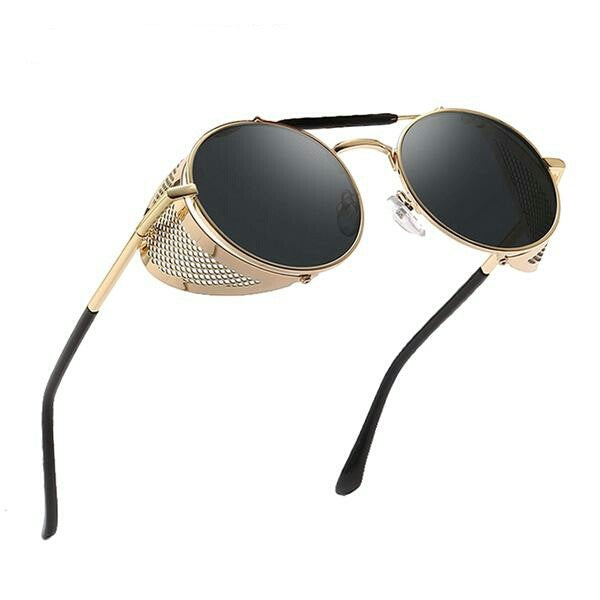 Retro Round Steampunk Sunglasses Men Women Metal Frame Gothic Sun Glasses
