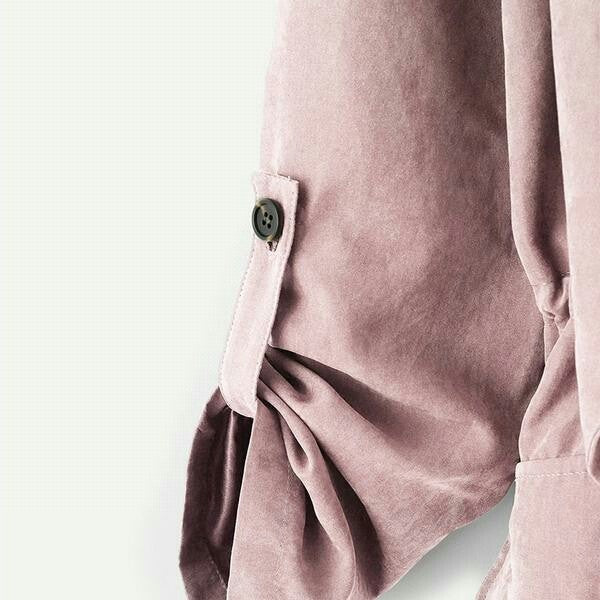 Pink Pocket Front Drawstring Pleated Buttoned Sleeve Open Stitch Solid Trench Coat  Women