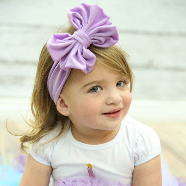 Kids Girls Bowknot Headband Hair Band Headwear for girl