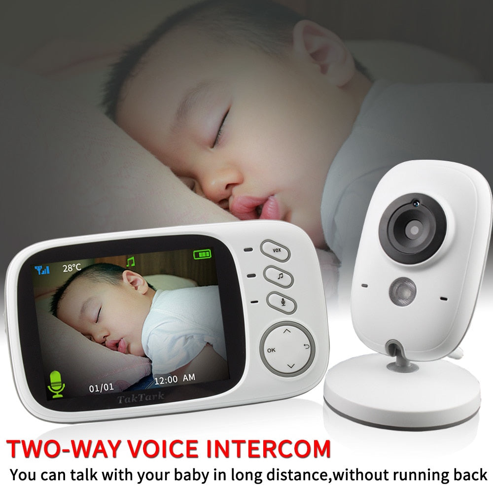 3.2 inch Wireless Video Color Baby Monitor High Resolution Baby