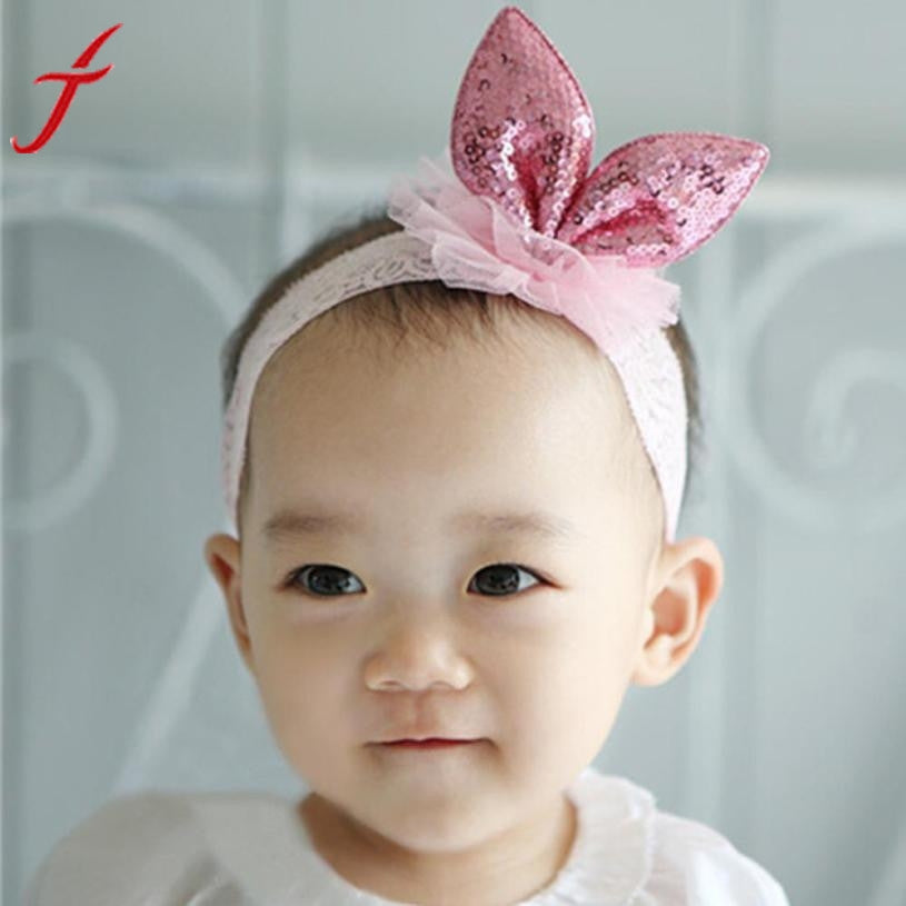 Girl Rabbit ears Headwear Accessories Hair band  Elastic