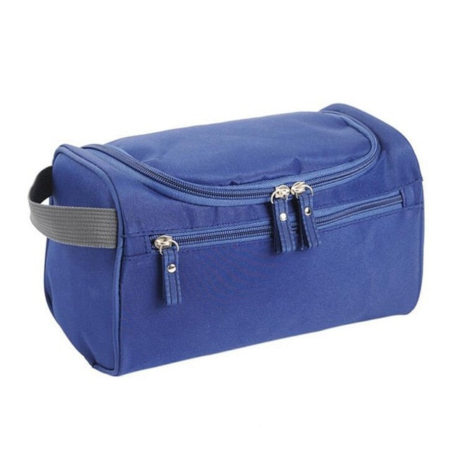 Men Travel Cosmetic Bag Functional Hanging Zipper Makeup Case Necessaries
