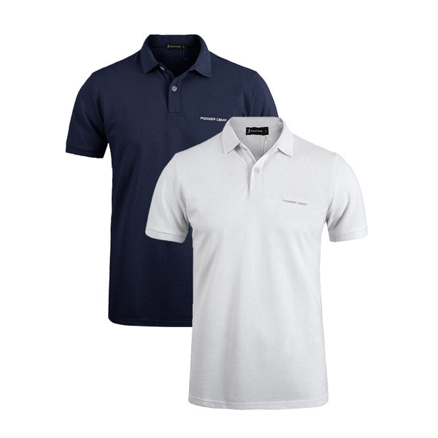 2-pack  Men Polo Shirt  Business & Casual solid male polo shirt Short Sleeve