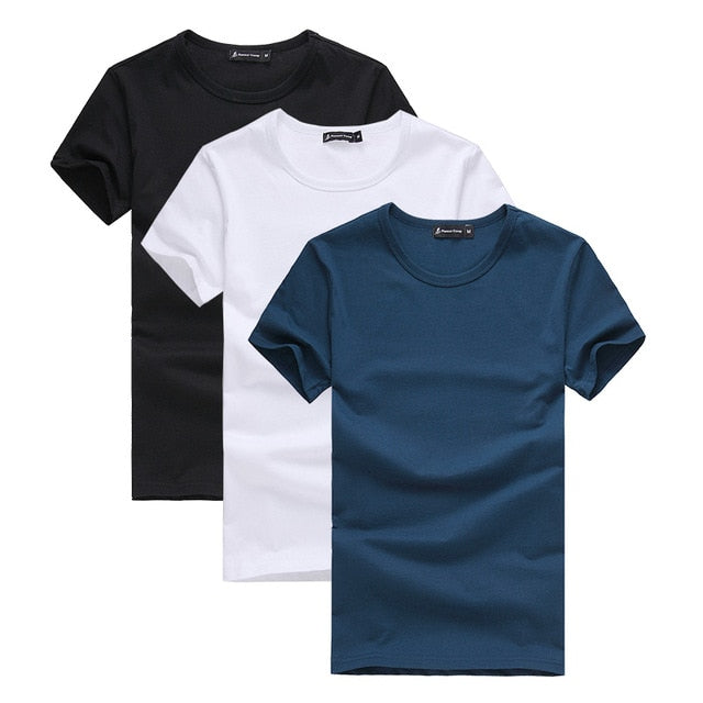 Pack of 3 promoting short sleeve t-shirt men
