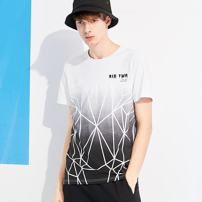 New bfashion pattern men T shirt brand-clothing casual summer Tshirt