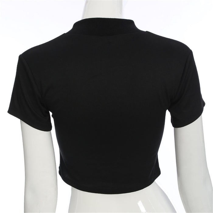 Women Sexy  Short Sleeve T-shirt