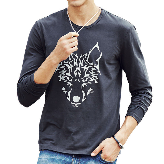 Men Hot T shirt fashion brand clothing Men's Long Sleeve T Shirt