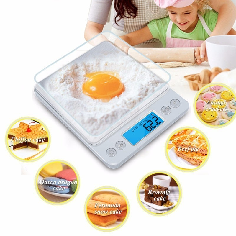 Z1s Digital Kitchen Scale Mini Pocket Stainless Steel Precision Jewelry Electronic (3000gx0.1g)