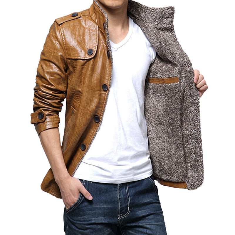 Warm Winter Men's slim fitn Jackets