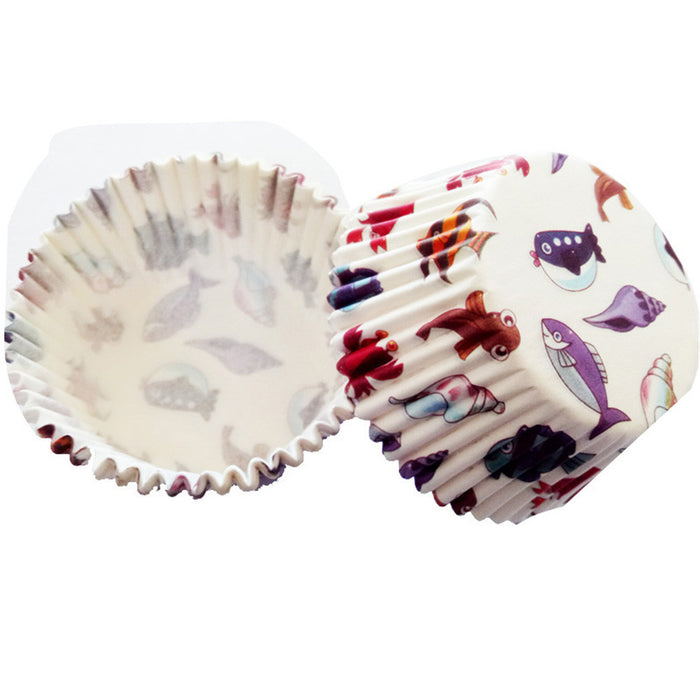 Paper mufin baking cups. 100 pieces